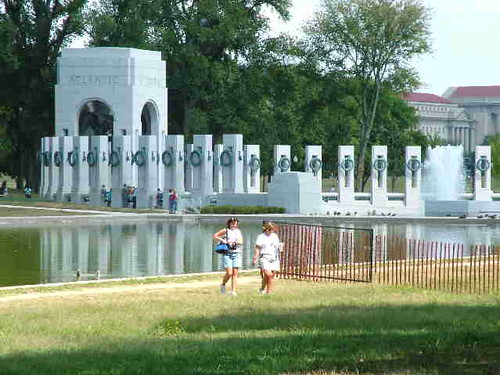 World War Symbols. World War II Memorial_Serene