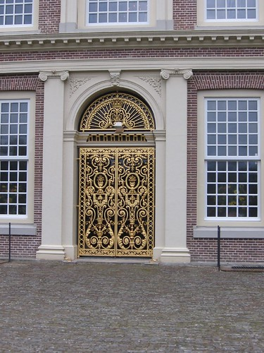 Ornate doors on the Palace