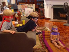 Ninja turtle masks and capes