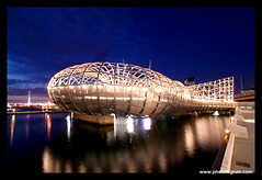Webb Bridge, Melbourne (Adam Dimech) Tags: bridge architecture night evening twilight australia melbourne victoria docklands webb webbbridge flickrdiamond