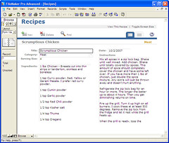 Recipe Form Final View
