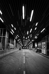 Lighted Tunnel (YY) Tags: road bw hk hongkong corridor tunnel elements kowloonstation twtmesh040834