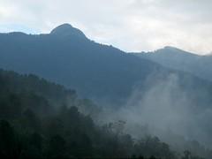 Le Tretorre vu depuis Guagnu en fin d'orage