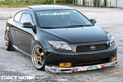 Sam8 (A.Frandsen) Tags: stickers tc flush scion slammed stateofstance