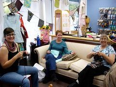Charity Knitting, Oct. 24, 2010