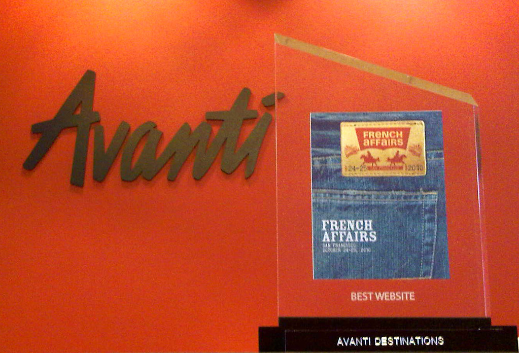 Avanti Destinations' Best Website Award
