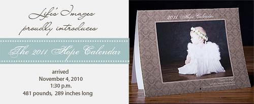 2011 Hope Calendar arrives!