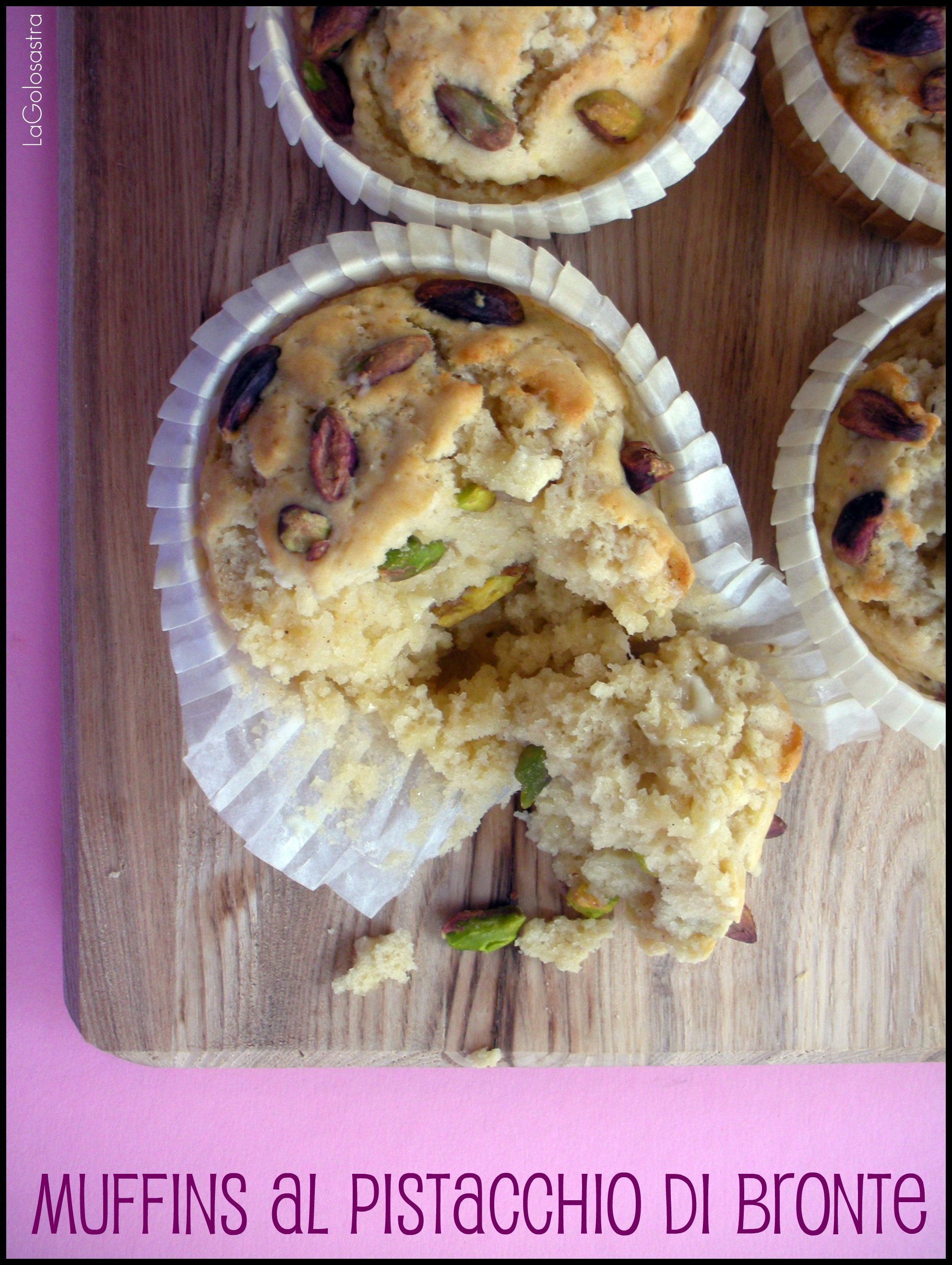 Muffins al Pistacchio di Bronte