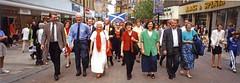 SNP March through Stirling on way to Bannockburn Rally, 1998 (Scottish Political Archive) Tags: party march scotland scottish national winnie sturgeon ewing bannockburn snp macartney hyslop