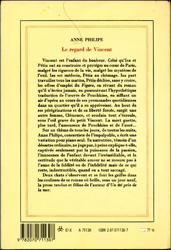 Le regard de Vincent, by Anne PHILIPE