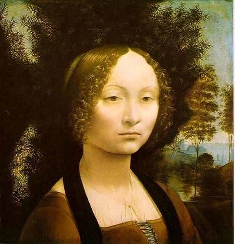 Leonardo Da Vinci Wallpaper. Leonardo da Vinci. Retrato de Ginevra Benci. 1474-76