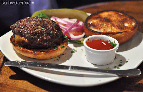 Stuffed Burger at Shorewood Bar & Grill ~ Fridley, MN