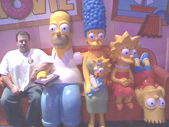 My picture with the Simpsons.