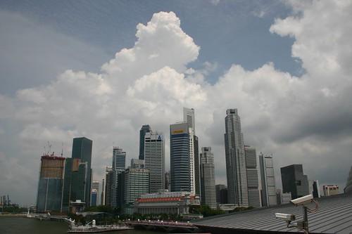 Singapore sky line...