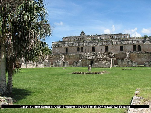 Kabah, Yucatan, Mexico - View of West Side of Structure 2C2