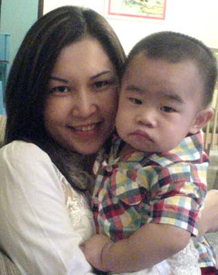 Ryan with his mama