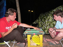 Backgammon op de camping (GuySie) Tags: camping 2007 backgammon itali pozzuoli zomervakantie