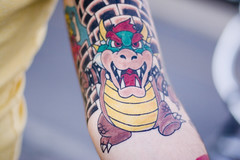 Bowser (VikingZombie) Tags: 20d tattoo ink canon 50mm james bowser arm nintendo mario games 50mm14 tat samuel danielinnes samuelmullin