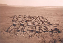 Wish You Were Here (In dust we trust) Tags: sunset beach sepia oregon writing landscape coast words seaside sand astoria wish disposable