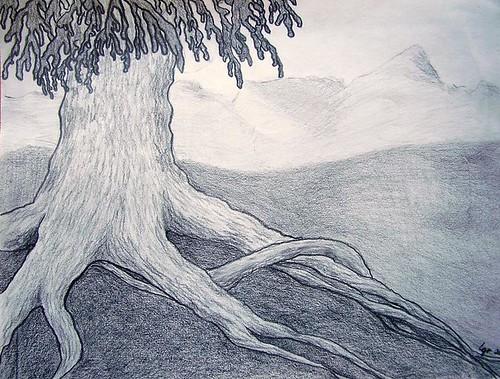 Dibujos a lapiz de paisajes