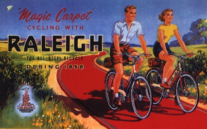 Vintage Raleigh Cycle Poster - Magic Carpet