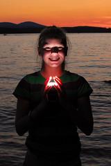 Rachel with Flash (Fraser MacMannis) Tags: sunset lake nikon flash maine nikkor speedlight vr sb800 strobist 18200mm3556gvr onlythebestare