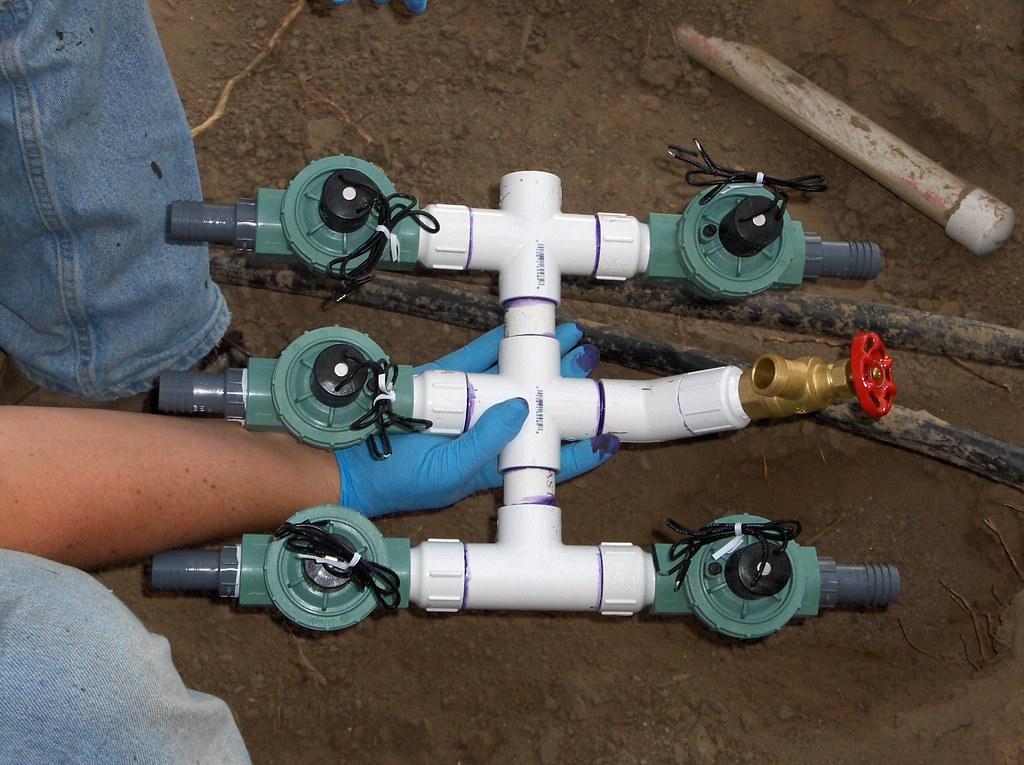 how to build a sprinkler valve manifold