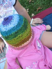 top of colorful hat for baby