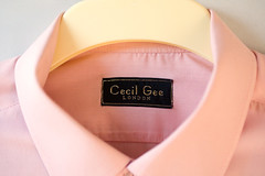 Cecil Gee (lutonian) Tags: pink abstract london fashion shirt label salmon plastic cotton crop hanger oxfam stiches cecilgee catchycolourpink