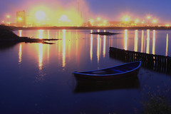 South Glare (shaunsmiff) Tags: night lights boat oven gare south coke steam flare works