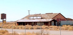 "The ""Little Red Barn"" (stars4esther) Tags: california abandoned restaurant ruins desert decay socal mojave southerncalifornia airforcebase californiacity kerncounty muroc littleredbarn calcity northedwards georgeandersonsmerchantile stars4esther"
