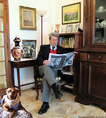 Buonaventura e Pinko ammalato - Buonaventura and sick Pinko (Buonaventura's & Carla's) Tags: cane soggiorno giornale signorefiorentinoconcane
