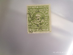 COCHIN, stamp with Ghost Image (charlenesthings) Tags: stamps antique ghost collection haunting rare