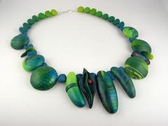 Rainforest (metalartiste) Tags: polymerclay naftali beadandbutton polymerclaynecklace