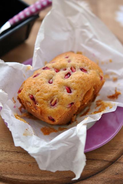 1.Plum cake olio, miele e melograno