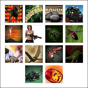 free Jurassic Slots slot game symbols