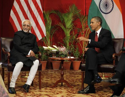 Hamid Ansari with Obama