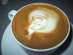 Coffee Genie (Espresso Hobbyist) Tags: art coffee etching drink head free espresso latte pour etch latteart coffeeart