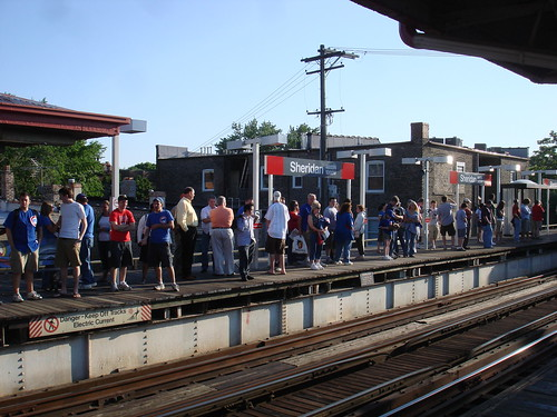 Waiting for a south-bound redline