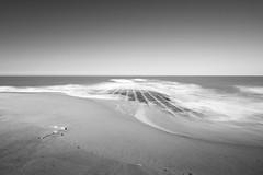 (Thomas Heyman) Tags: longexposure sea bw beach sand waves knokke breaker 10stopbwnd