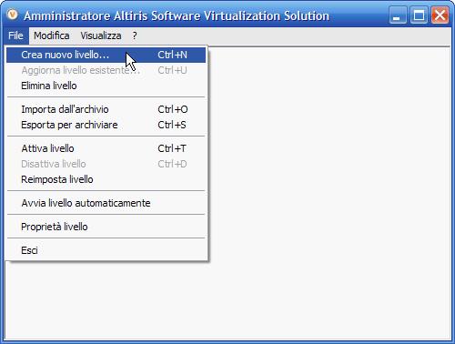 SVS - aggiornamento alla versione 2.1 italiano - schermata - menu