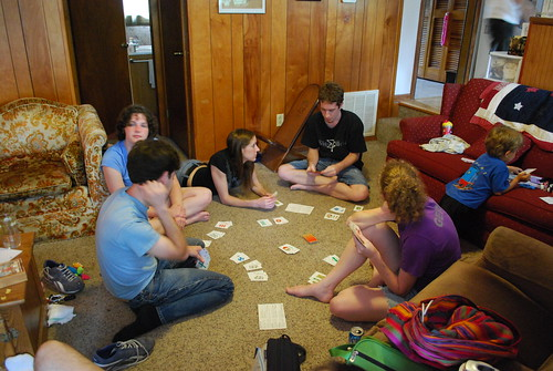 Playin a card game