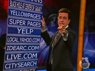 Stephen Colbert on Local Search