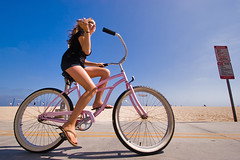 Not MySpace (konaboy) Tags: california beach girl bike bicycle newportbeach orangecounty oc 50619