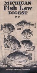 1951 Michigan Fishing License Guide (UpNorth Memories - Donald (Don) Harrison) Tags: lake fishing women michigan memories salmon conservation trout upnorth manistee benzie upnorthmemories donharrison