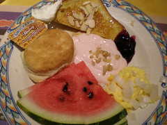 My Plate #2 - Suncoast (Miss Shari) Tags: food watermelon biscuit frenchtoast honey eggs buffet yogurt fe230