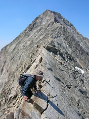 One way to traverse the Knife Edge (Crystal, Colorado, United States) Photo