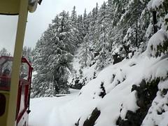 Narrow gauge railway Parc d'Attractions du Châtelard (wimbledonian) Tags: snow train switzerland du parc barrage funicular emosson dattractions châtelard