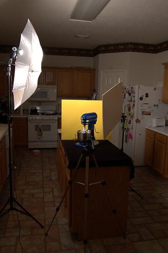 Kitchen Aid mixer set-up shot