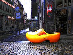 giant clog in amsterdam, holland